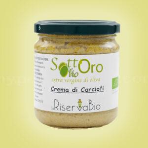crema di carciofi bio con olio extra vergine laRiservaBio
