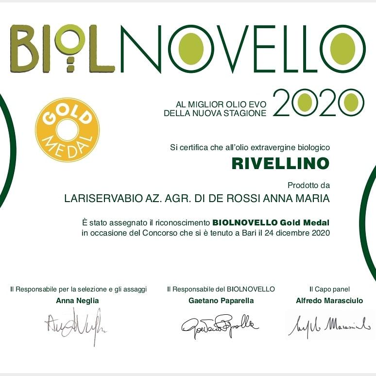 laRiservaBio Premio 2020